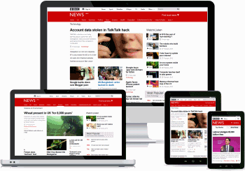 New BBC site on various devices